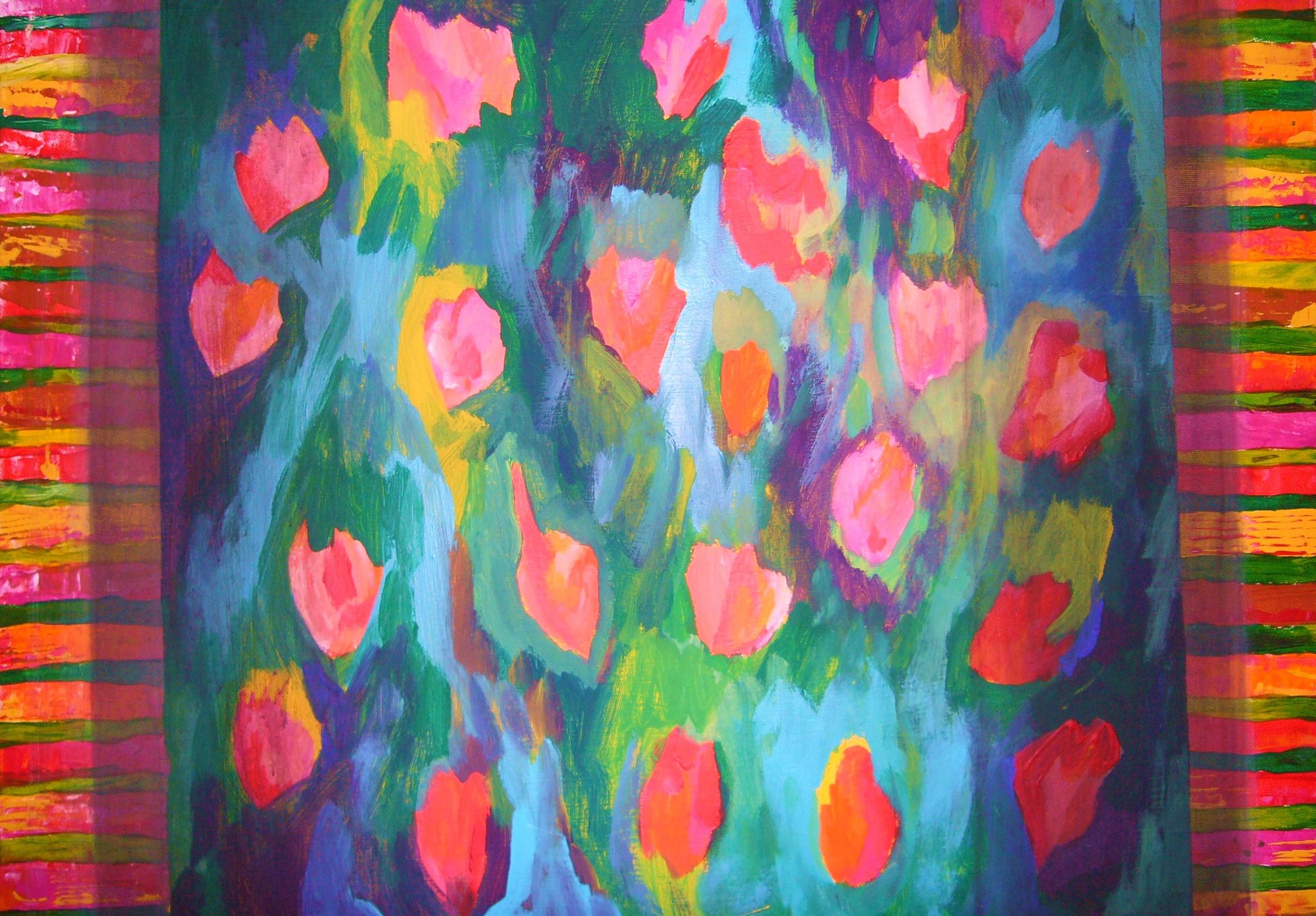 BLUMENWIESE Acryl 40x60
