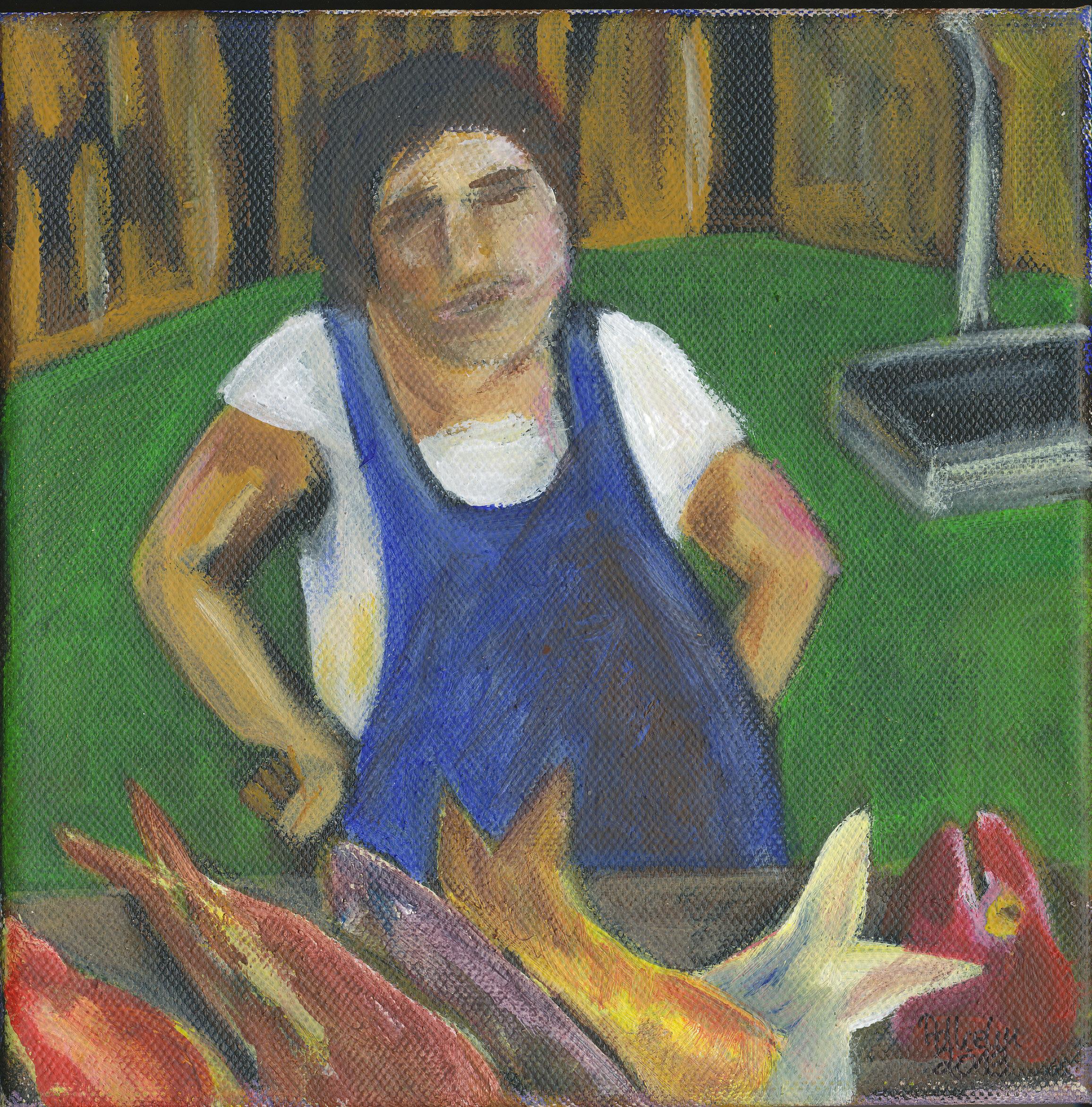 Fischverkäuferin in Portimao