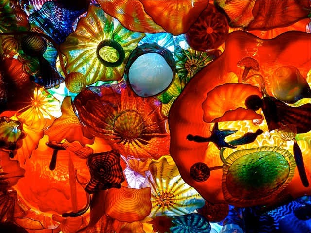 Dale Chihuly glass art at the Franklin Park Conservatory in Columbus, Ohio