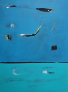 Blau 1 Acryl/Leinwand 50x70